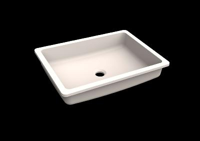 Lavabo solid surface Acrylic R20 50 X 35 X 10 cm Polar White