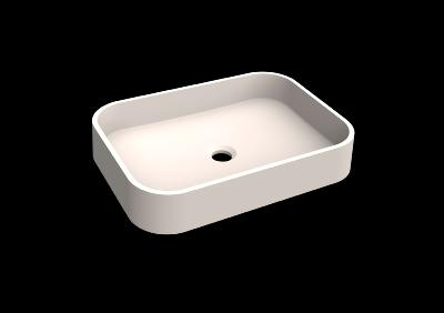 Lavabo solid surface top Acrylic R70 50 X 35 X 9 cm Standard White