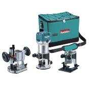Fresadora de superficie Makita con kit bases
