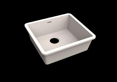 Fregadero Solid Surface Acrylic 45 X 40 X 17,5 cm Polar White