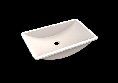 Lavabo solid surface Acrylic 58 X 33 X 12,7 cm Polar White