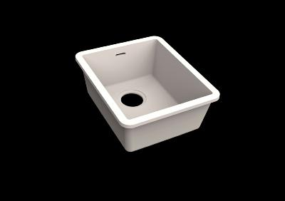 Fregadero Solid Surface Acrylic 33 X 40 X 17,5 cm Standard White