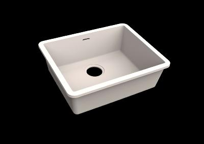 Fregadero Solid Surface Acrylic 50 X 40 X 17,5 cm Polar White