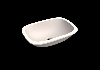 Lavabo solid surface Acrylic R100 40 X 27 X 11 cm Standard White