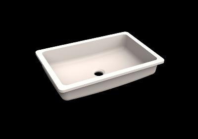 Lavabo solid surface Acrylic R20 50 X 30 X 10 cm Polar White