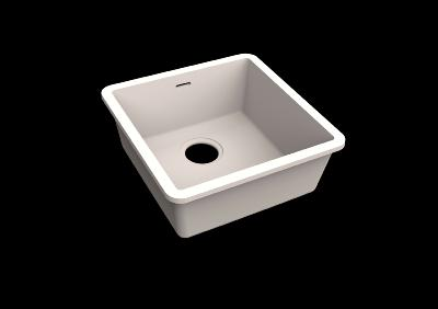 Fregadero Solid Surface Acrylic 40 X 40 X 17,5 cm Polar White