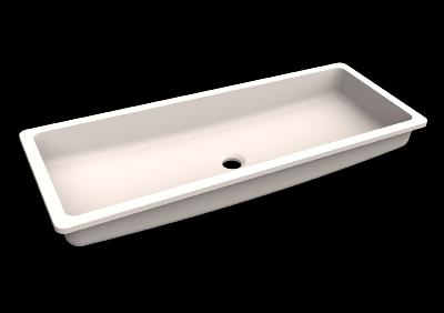 Lavabo solid surface Acrylic R20 85 X 30 X 10 cm Standard White